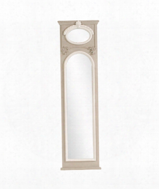 "Florence 20"" Wall Mirror In White"