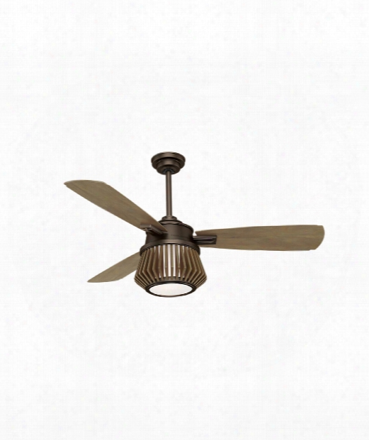 "Glen Arbor 9"" L Ed 2 Light Ceiling Fan In Metallic Chocolate"