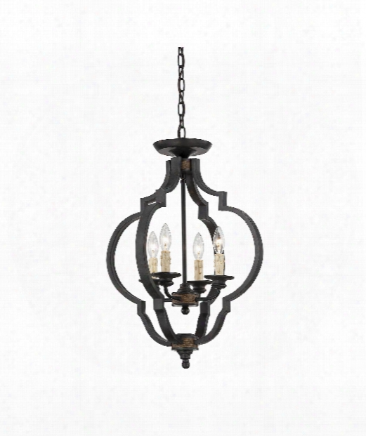 "Kelsey 18"" 4 Light Semi Flush Mount In Durango"