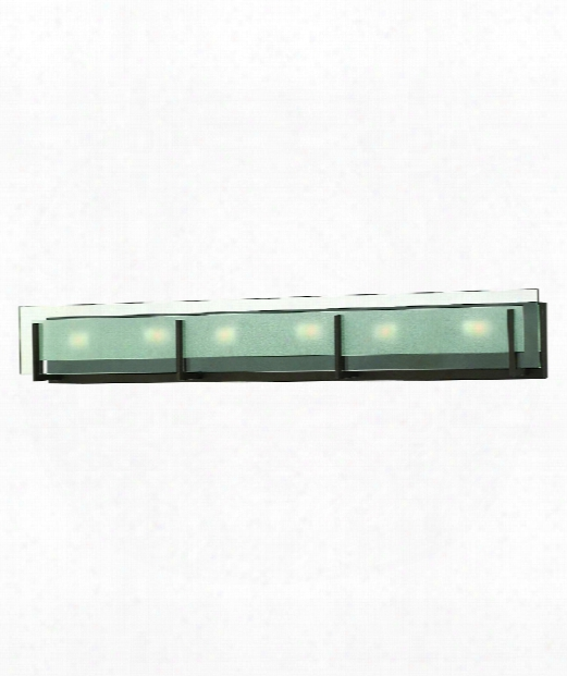 "Latitude 38"" 6 Light Bath Vanity Light In Oil Rubbed Bronze"