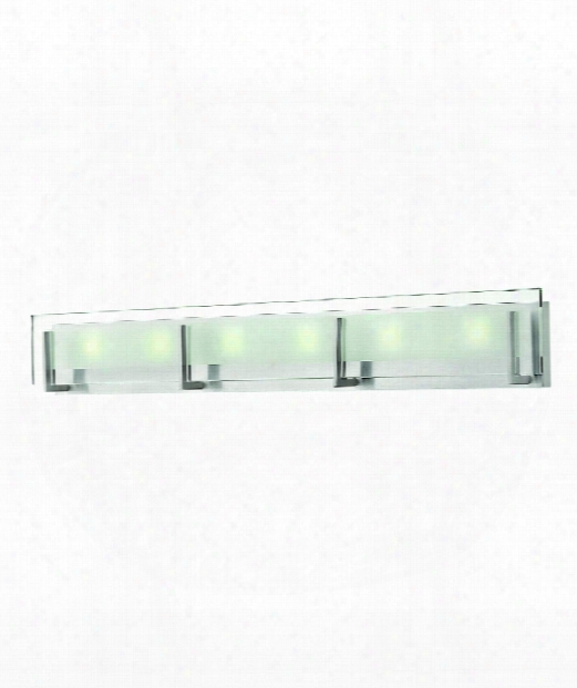 "Latitude 38"" Led 6 Light Bath Vanity Light In Brushed Nickel"
