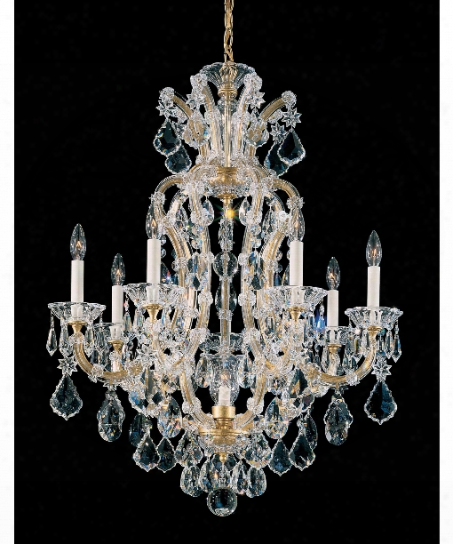 """Maria Theresa 27"""" 8 Light Chandelier In French Gold"""