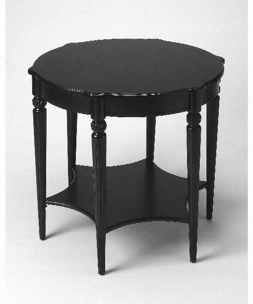 """Masterpiece 28"""" Accent Table In Black Licorice"""