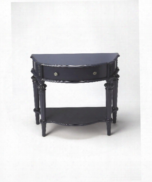 """Masterpiece 34"""" Cosole Table In Blue"""