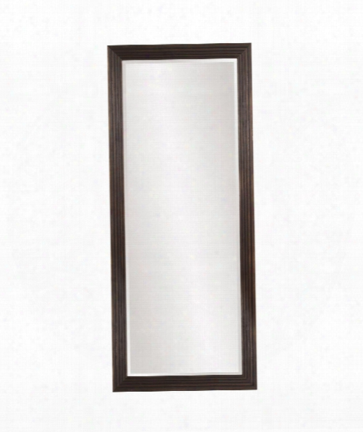 "Maxwekl 30"" Floor Mirror In Dark Espresso Brown"