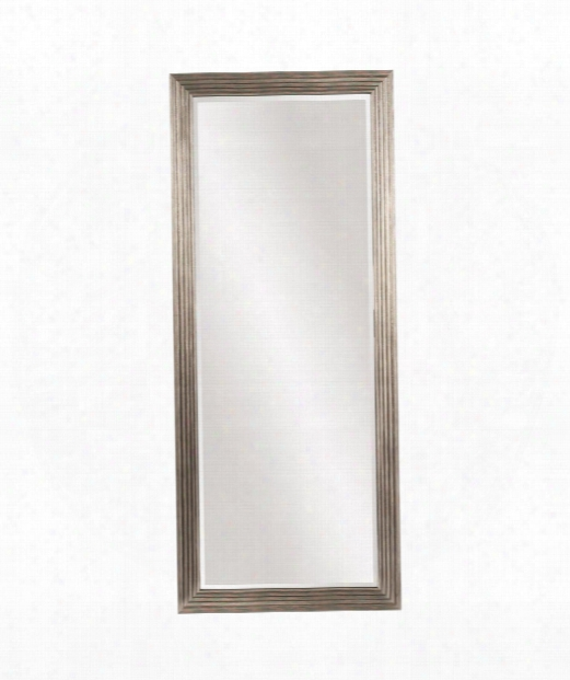 "Maxwell 30"" Floor Mirror In Silver Leaf"