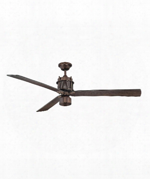 "Muir 56"" 1 Light Ceiling Fan In Byzantine Bronze"