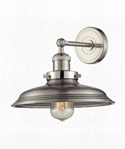 "Newberry 2"" 1 Light Wall Sconce In Satin Nickel"