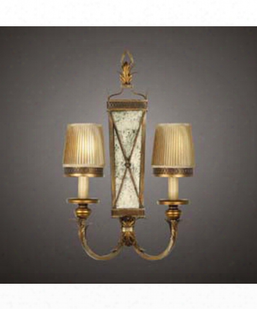 "Newport 15"" 2 Light Wall Sconce In Burnished Gold"
