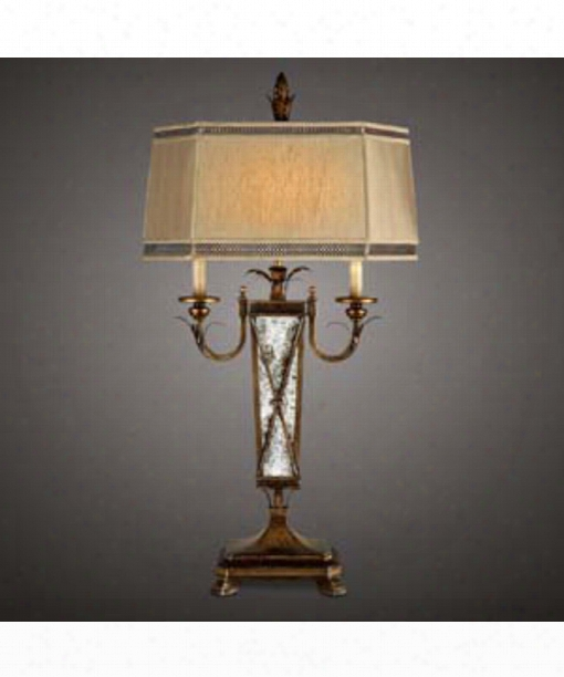 Newport 2 Light Table Lamp In Burnished Gold
