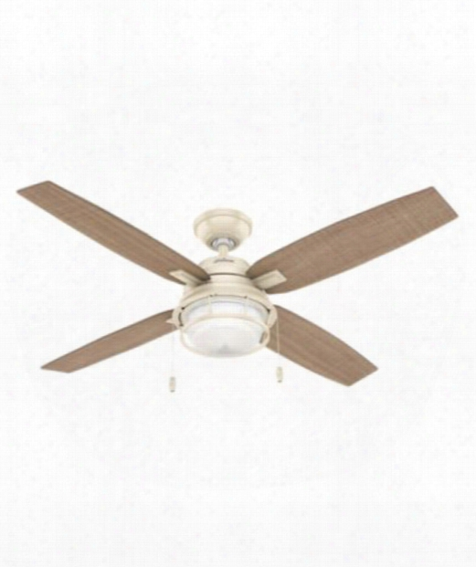 "Ocala 52"" Led 1 Light Ceiling Fan In White"