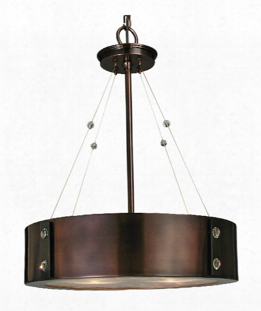 "Oracle 16"" 4 Light Large Pendant In Roman Bronze"
