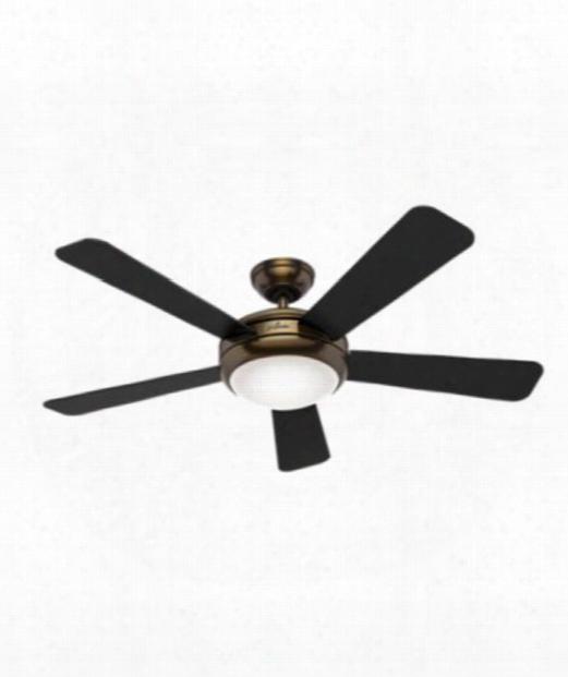 """Palermo 52"""" 1 Light Ceilign Fan In Bronze-brown"""