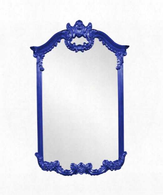 "Roman 32"" Wall Mirror In Royal Blue"