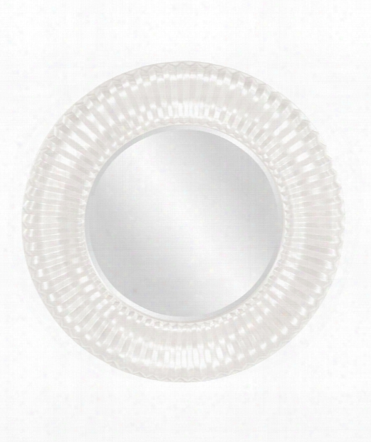 "Sao Paulo 31"" Wall Mirror In Glossy White"