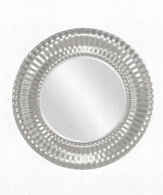 "Sao Paulo 31"" Wall Mirror In Nickel"