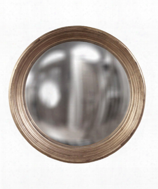 """Silas 34"""" Wall Mirror In Country Silver Leaf"""