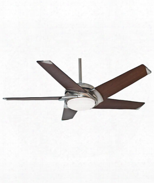 Stealth Led 1 Light Ceiling Fan In Brushed Nickel