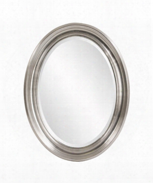 """Sterling 26"""" Wall Mirror In Bright Silver"""
