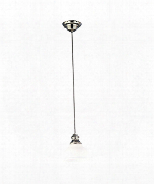 "Sutton 7"" 1 Light Mini Pendant In Polished Nickel"