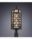 "Costa del Sol 11"" 3 Light Outdoor Outdoor Post Lamp in Wrought Iron"