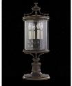 """Louvre 11"""" 4 Light Outdoor Outdoor Post Lamp in Bronze"""