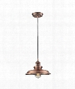 "Newberry 2"" 1 Light Mini Pendant in Antique Copper"