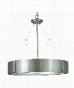 "Oracle 23"" 4 Light Large Pendant in Satin Pewter"
