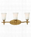 "Yorktown 24"" 3 Light Bath Vanity Light in Brushed Bronze"