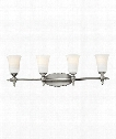 "Yorktown 33"" 4 Light Bath Vanity Light in Antique Nickel"