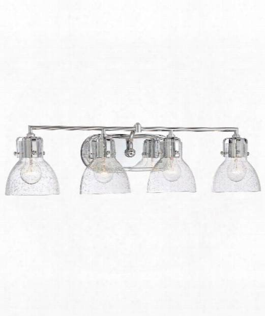 "Transitional 32"" 4 Light Bath Vanity Light In Chrome"