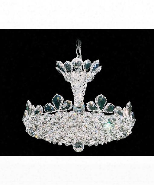 "Trilliane 16"" 6 Light Large Pendant In Silver"