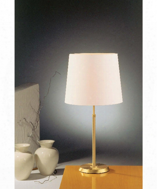 "12"" 1 Light Table Lamp In Brushed Brass"