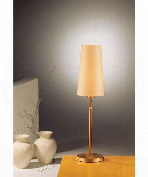 "6"" 1 Light Table Lamp In Antique Brass"