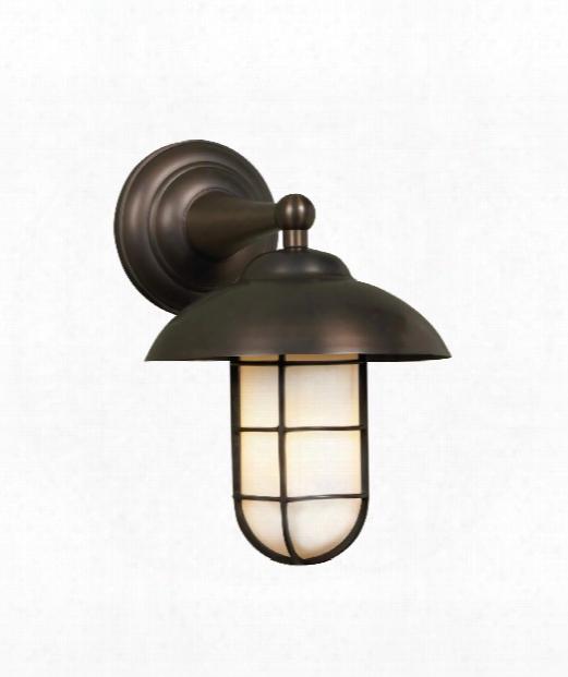 "Admiral Classic 10"" 1 Light Outdoor Outdoor Wall Light In Antique Bronze"