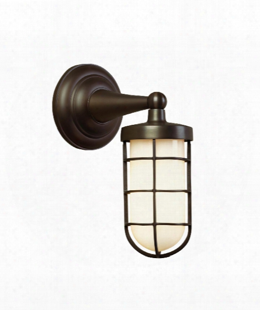 "Admiral Simple 6"" 1 Light Outdoor Outdoor Wall Light In Antique Bronze"