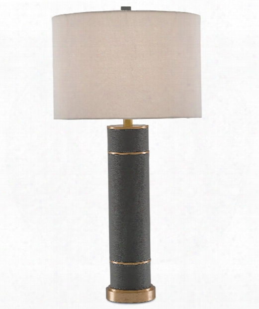 """Archive 16"""" 1 Light Table Lamp In Gray-brushed Brass"""