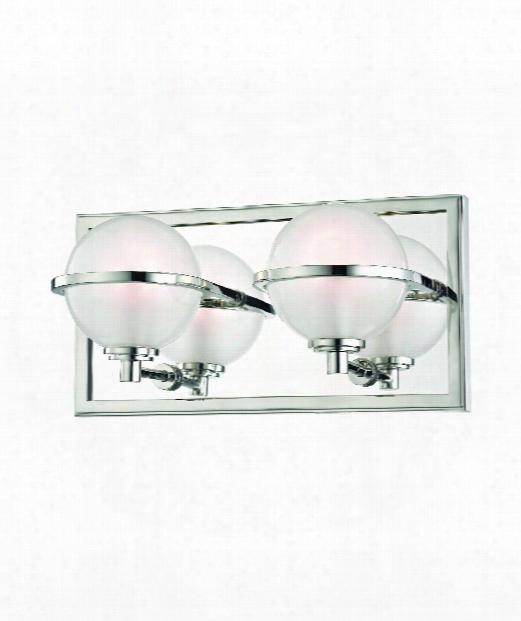 "Axiom 12"" Led 2 Light Bath Vanity Light In Polished Nickel"