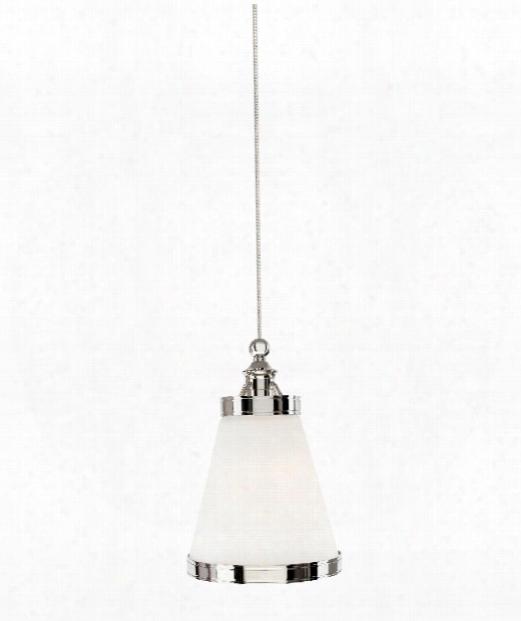 "Benton 5"" Led 1 Light Mini Pendant In Satin Nickel"