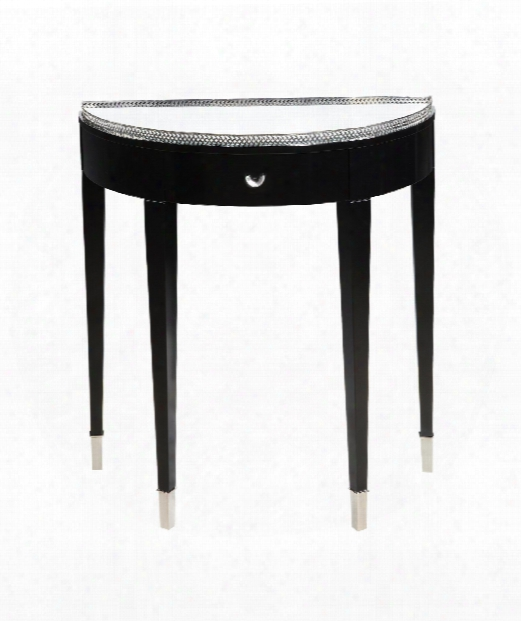 "Black Tie 28"" Console Table In Black"
