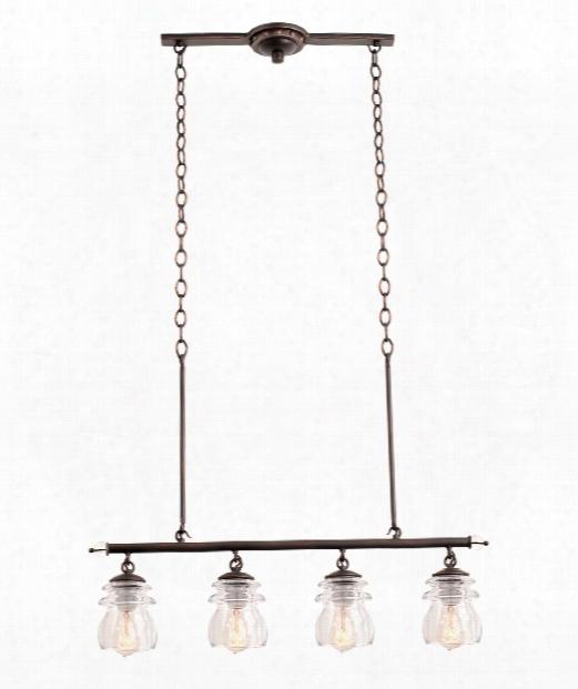 "Brierfield 31"" 4 Light Island Light In Antique Copper"