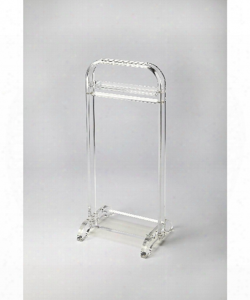 """Butler Loft 18"""" Other Home Accent In Clear Acrylic"""