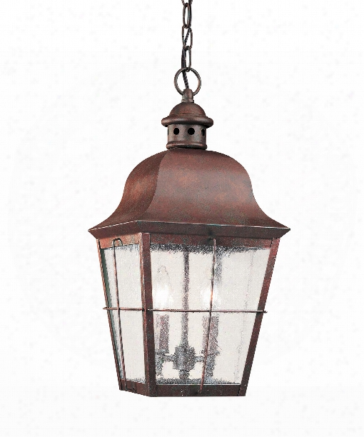"""Chatham9"""" Led 2 Light Outdoor Hanging Lantern In Silver"""