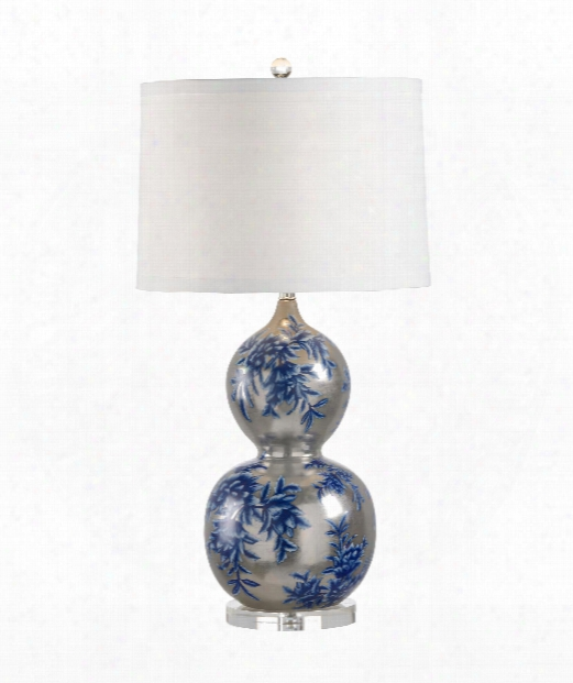Chu Hua 1 Light Table Lamp In Antique White Gold Glaze