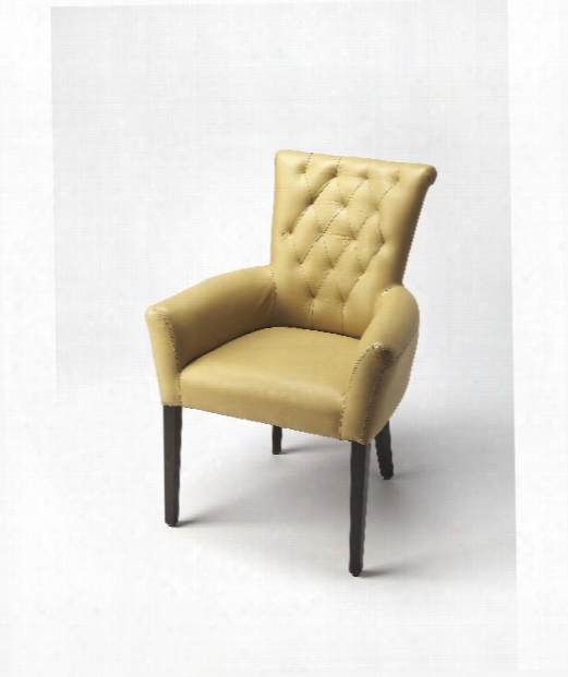 """Cosmopolitan 27"""" Occasional Chair In Cream Leather"""