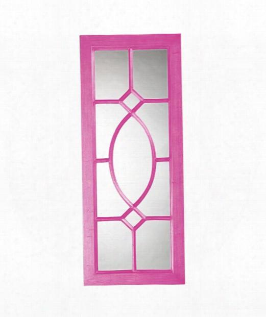 "Dayton 21"" Wall Mirror In Hot Pink"