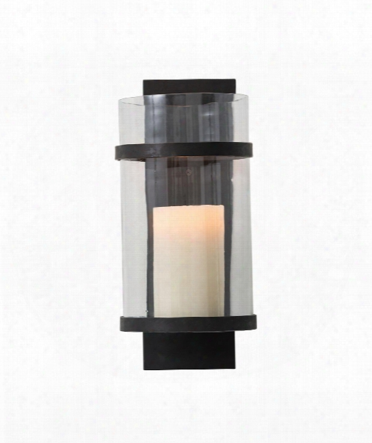 "Degan Small 7"" Wall Sconce In Burnt Wax"