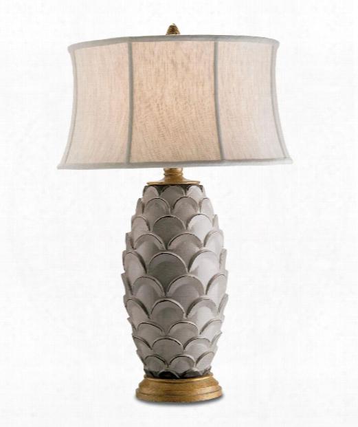 "Demitasse 20"" 1 Light Table Lamp In Antique White-gold"