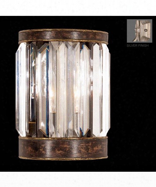 """Eaton Place 6"""" 1 Light Wall Sconce In Silver Leaf"""