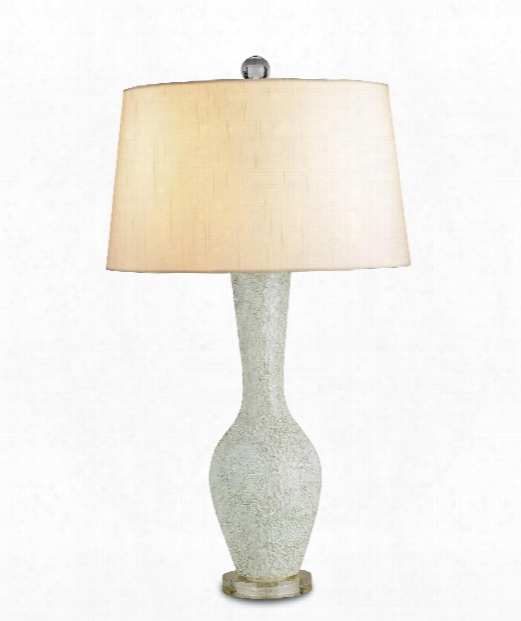 """Flamboyant 15"""" 1 Light Table Lamp In Celadon-clear"""